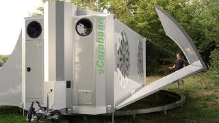SCarabane The Off Grid Folding Caravan Expands Into A Tiny House