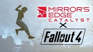 Fallout 4 turned into a surreal Mirror's Edge Parkour gamemode