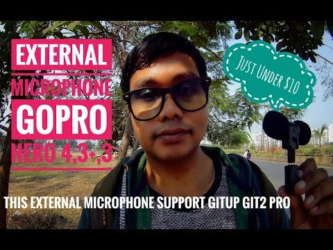 External Microphone || Gopro hero3,4 & Gitup Git2 || Unboxing & quick review test!