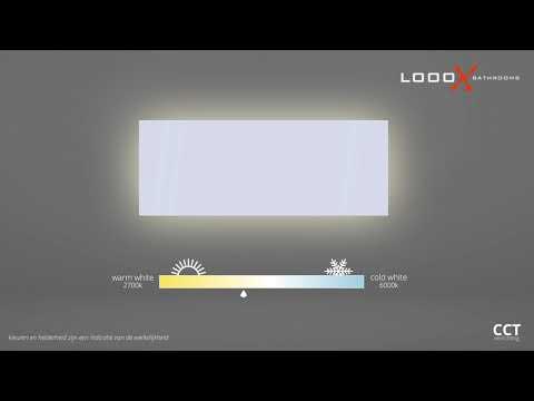 Looox Organic Line spiegel cct verlichting 60x80 cm