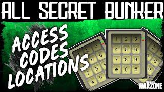 Warzone ALL SECRET BUNKER ACCESS CODES HIDDEN DOOR | Bunker Locations