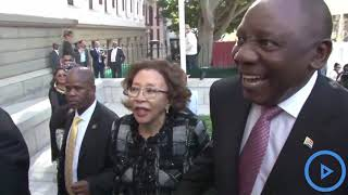ANC leader Cyril Ramaphosa leads South African deputies into