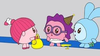 Малышарики - Раскраска для детей - Цветок (Учим цвета с малышами)