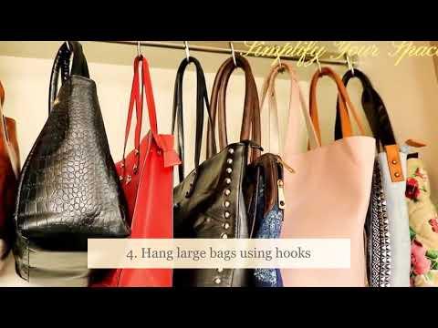 10 Handbags storage ideas