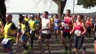 preview picture of video 'Giro del lago di Bracciano 2014 - Trevignano Romano 16/2/2014'