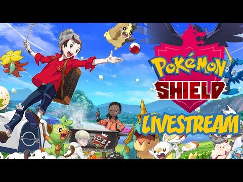OUR ADVENTURE BEGINS! - Pokemon Shield LIVE STREAM (I am Currently Sick)
