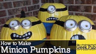 Make Minion Pumpkins for Halloween