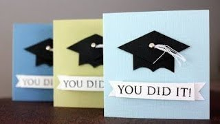 DIY Graduation Card/ Graduation Card Tutorial/ How to make a Graduation card/ Congratulations Card
