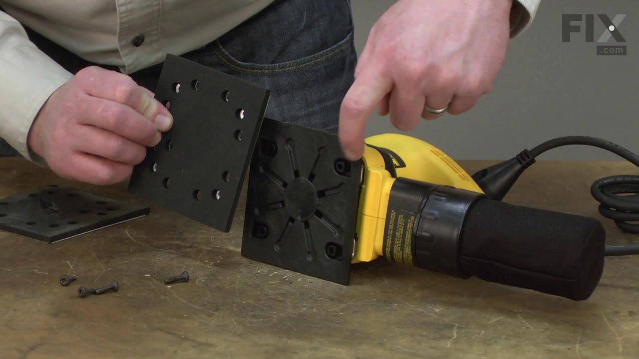 Replacing your DeWALT Sander Polisher Sander Pad & Backing Plate (Rubber Foam)
