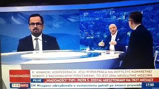Robert Winnicki w TVP Info. Poseł Konfederacji zmasakrował Horałę z PiS.