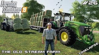 Stacking bales & selling silage | Animals on The Old Stream Farm | Farming Simulator 19 | Episode 26