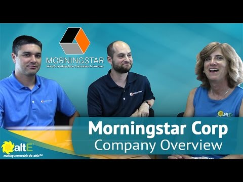Morningstar Corporation Company Oververview - Solar Charge Controllers