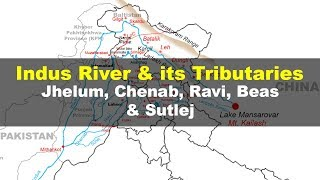Indus river and its tributaries - Geography UPSC, IAS, NDA, CDS, SSC CGL