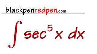 Integral of sec^5x