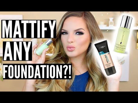 MATTIFY ANY FOUNDATION?! Test It Out Thursday | Casey Holmes
