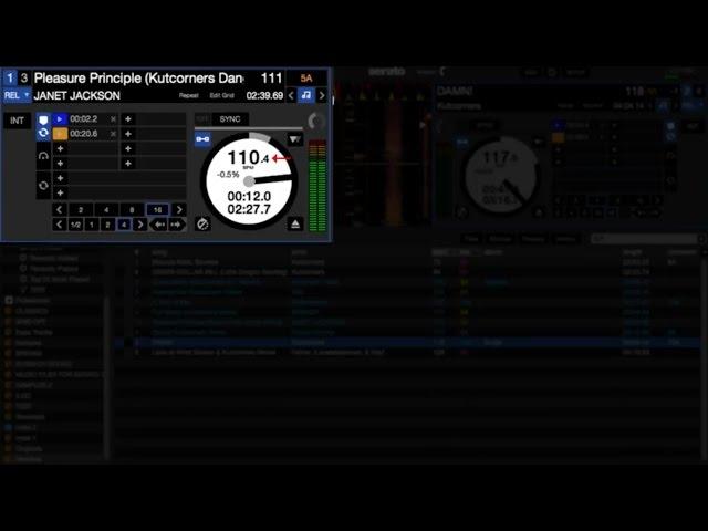 Anti-Drift demo with Serato DJ 1.9.6