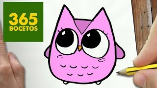 COMO DIBUJAR BUHO KAWAII PASO A PASO - Dibujos kawaii faciles - How to draw a owl