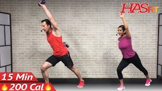 15 Minute Standing Abs Workout - 15 Min Abs & Standing Cardio - Standing Ab Workout for Women & Men by HASfit
