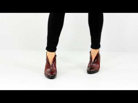 Gabor 616.95 - Women's Heeled Ankle Boots - Wine
