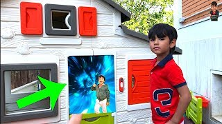 I Found A Secret Door To Ryan's Toys Review Pretend Play With Ryan's World Toys