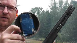 Rem 887 and Some Exploding Clays And Slug Shooting
