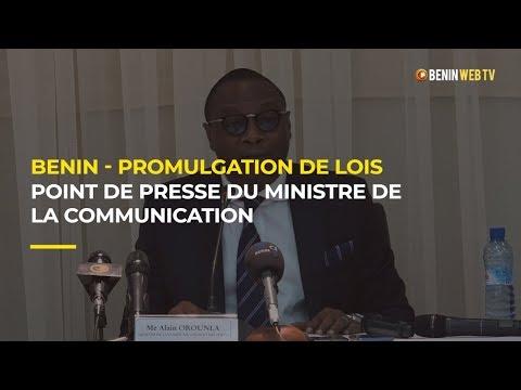 Bénin: point de presse du ministre de la communication et des postes