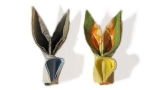 Easter Table Decoration Origami Rabbit - Easy Origami Bunny Napkin - Origami Tutorial