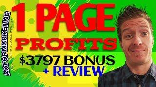 1 Page Profits Review, Demo, $3797 Bonus, 1Page Profits Review