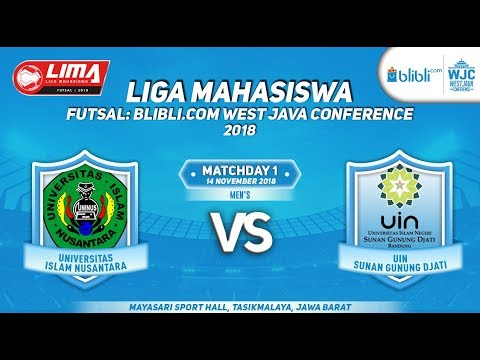 UNINUS VS UIN SGD  LIMA FUTSAL : BLIBLI.COM WEST JAVA CONFERENCE 2018