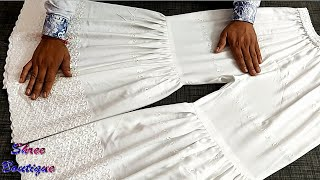 Sharara full cutting and stitching with easy tips || Make Sharara Step By Step with Full Tutorial