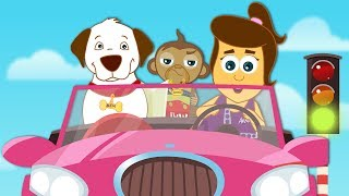 Driving In My Car Song |  The Little Red Car Song | Original Kids Songs by HooplaKidz