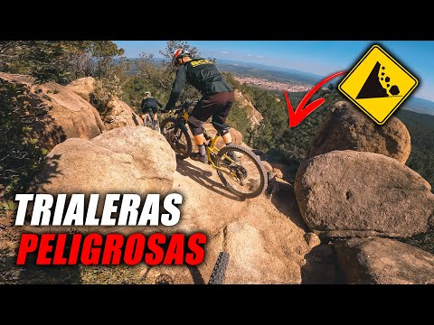 ENDURO MTB por TRIALERAS PELIGROSAS 💥*CUIDADO!!!* | ENDUVLOG 044