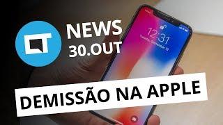 Demissão na Apple por causa do iPhone X;  Vietnã bane uso de Bitcoins no país e+ [CT News]