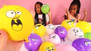 Download Video Making Slime with Funny Face Balloons MP3 3GP MP4