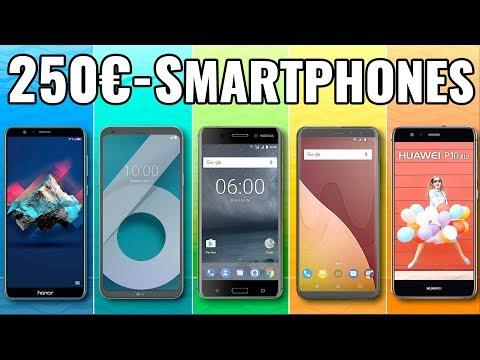 5 Top Smartphones / Handys UNTER 250 EURO (2018)