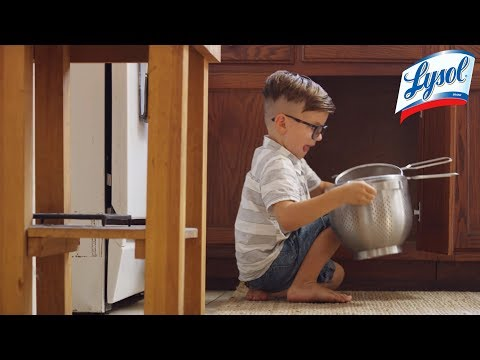Lysol | Get on your kids' level to disinfect