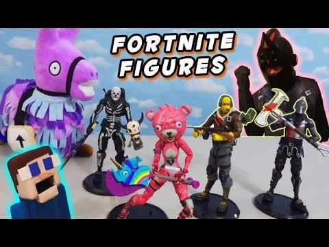 Unboxing Fortnite Toys Raptor And Black Knight Action Figures By