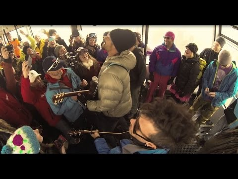 Michael Franti live from the Jackson Hole tram.