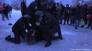 Жесткие задержания сторонников Навального в Петрозаводске
