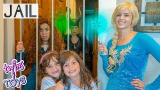 Frozen Elsa sends Princess Merida TO JAIL!! Maleficent learns about Forgiveness