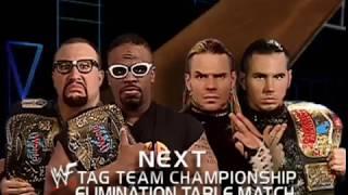 Hardy Boyz vs Dudley Boyz Tables Match Smackdown 6/28/01