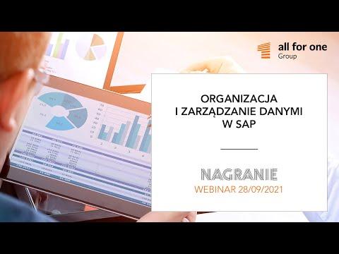 Organizacja i zarządzanie danymi w środowiskach SAP