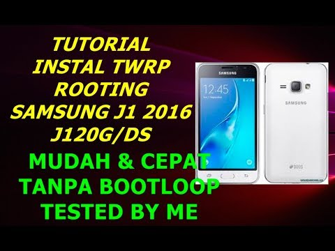 Flash TWRP custom recovery and Root Samsung J1 4G   sm-j120G