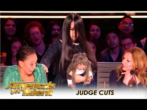The Sacred Riana: Mel B ESCAPES Creepy Girl Magician After HORROR Act! | America's Got Talent 2018