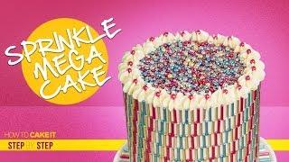Sprinkles MEGA Cake | Make A Pattern With Sprinkles | Step By Step | How To Cake It | Yolanda Gampp | Kholo.pk