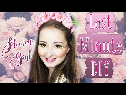 DIY Flower Girl - Blumenkranz und Make-Up Look Last Minute⎜KrishiKarneval