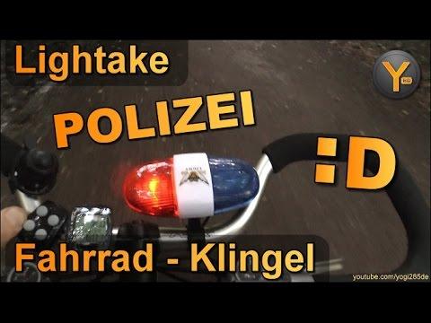 Polizei-Action mit dem Fahrrad :D Sound LED Klingel für Fahrrad-Lenker / Polizei Sirene USA