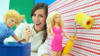 Muebles para la casita de muñecas. Barbie vídeos