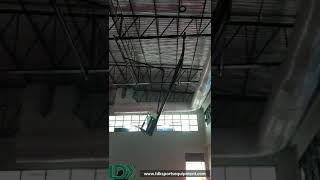 Indoor Installing Ceiling Suspended Hanging Basketball Backstop Systems