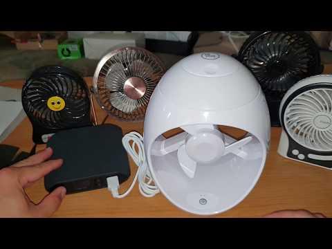 kleine Maßnahmen gegen die Hitze ??? mini Ventilatoren für den Schreibtisch oder Nachtschrank